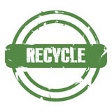 Green recycle sign Royalty Free Stock Photography
