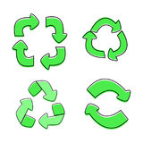 Green Recycle sign isolated,  Stock Images