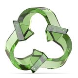 Green recycle sign, three arrows 3D Stock Photos