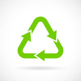 Green recycle sign. Vector illustration Stock Photo