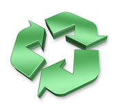 Green Recycle Symbol Royalty Free Stock Photos