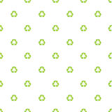 Green recycle symbol pattern background Stock Photos