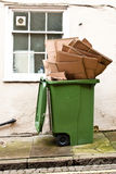 Green recycling bin Stock Images