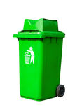 Green recycling bin Royalty Free Stock Photo