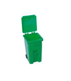 Green recycling bin Stock Image