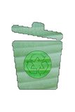 Green recycling bin made of green leaf Royalty Free Stock Photos