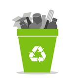 Green recycling bin Royalty Free Stock Photography