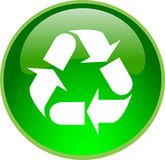 Green recycling button Royalty Free Stock Photography