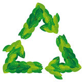 Green recycling Royalty Free Stock Photo
