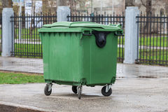 Green recycling container Royalty Free Stock Photography