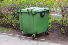 Green recycling container Royalty Free Stock Photos