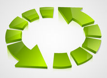 Green recycling icons Stock Images