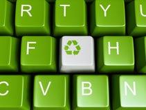 Green recycling keyboard Stock Photo