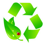 Green recycling logo Stock Photos