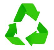 Green recycling sign Royalty Free Stock Photo