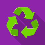 Green recycling sign icon in outline style  on white background. Bio and ecology symbol stock vector Royalty Free Stock Image