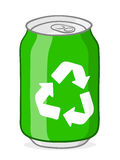 Green recycling soda can Royalty Free Stock Photography