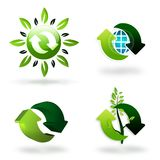 Green recycling symbols Royalty Free Stock Image