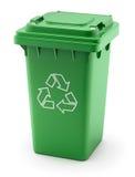 green recyklingu bin Zdjęcie Stock