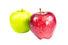 Green and red apple. On the isolate background Stock Photos