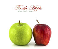 Green and red apple isolated Stock Photo