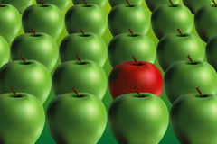 Green and red apple - vector file added Stock Photo