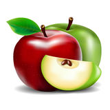 Green And Red Apple Royalty Free Stock Images