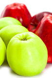 Green and red apples Stock Photos