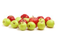 Green and red apples. Isolated Stock Image