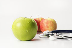 Green and Red Apples - Diet Concept Stock Photography