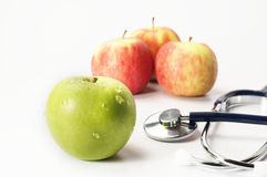 Green and Red Apples - Diet Concept Stock Photos