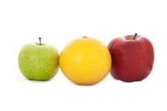 Green and red apples and grapefruit Royalty Free Stock Image