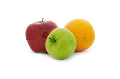 Green and red apples and grapefruit Royalty Free Stock Images