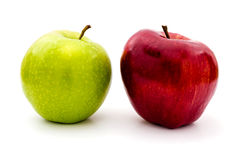 Green and red apples isolated Royalty Free Stock Photo