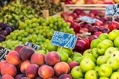 Green and red apples in local market in Copenhagen,Denmark. Royalty Free Stock Photo
