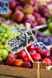 Green and red apples in local market in Copenhagen,Denmark. Stock Photography