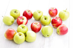 Green and red apples Stock Photography