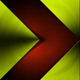 Green and Red Arrow Metal Background. Metal abstract background with red and green arrow Stock Image