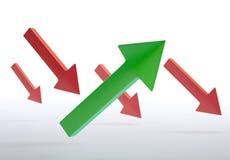 Green and red arrows. 3D green and red arrows Royalty Free Stock Image