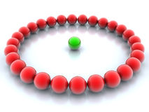 Green and red balls Stock Photo