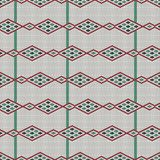 Green and red bead ornament. African mosaic motif. Royalty Free Stock Photography