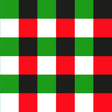 Green Red Black Chessboard Background. Christmas Seamless Pattern. Royalty Free Stock Photos