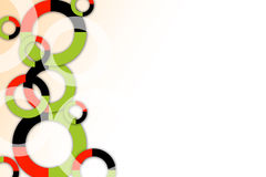 Green,red and black rings , abstrack background Royalty Free Stock Image