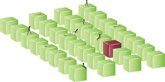Green and red blocks Royalty Free Stock Images
