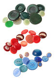 Green red blue buttons Stock Photos