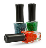 Green red  blue nail Royalty Free Stock Photography