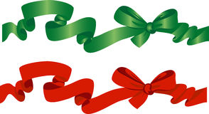 Green and red bow Royalty Free Stock Photo