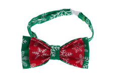 Green with red bow tie Stock Photo