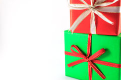 Green and red box royalty free stock image