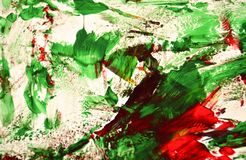 Green red bright painting backround, abstract painting watercolor background royalty free stock image